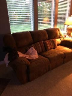 Microsued Reclining Sofa and loveseat