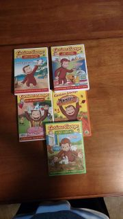 Five DVDs of Curious George 40 different shows