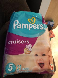 Pampers size 5 cruisers