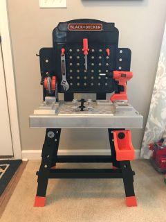Kids Black&Decker tool bench