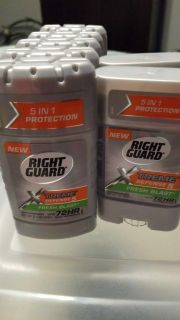 Right Guard XTREME Defense 5 Fresh Blast. Solid and Gel. ***PORCH PICKUP***