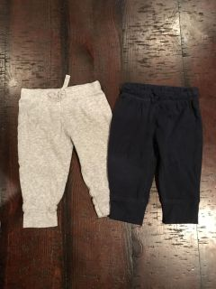 Carter s 6 month light weight pants lot (gray and navy) #1