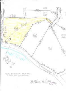 6.43 acre Lot 12 Northern Heights Estates, Waynesville MO