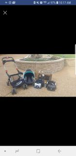 Baby Trend carseat bases, car seat, and snap-n-go stroller
