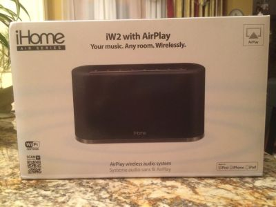 iHome iW2 with AirPlay Wireless Audio Speaker