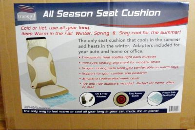 Brand New All Season Seat cushion therapeutic heat- for car / office / home-tranquil ease