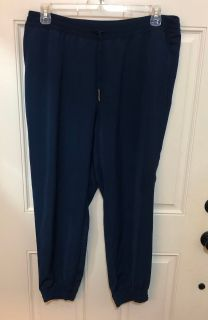 Nice Navy Blue Pants with stretchy waist