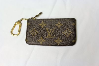 Louis Vuitton Coin Purse Zipper Key Ring Holder Monogram Leather LV Small Wallet