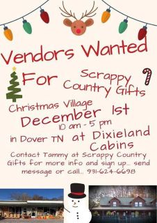 Christmas Village December 1st Vendors Wanted