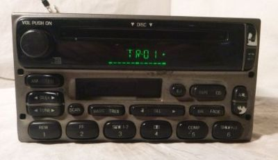 Find 02 03 04 Ford Explorer Sport Trac Radio Cd Cassette Player 3L2T-18C868-BC V00006 motorcycle in Williamson, Georgia, United States