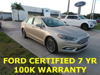 2018 Ford Fusion Titanium (White Gold Metallic)