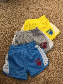 3 pairs of athletic shorts