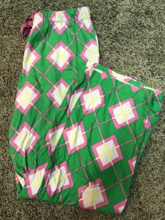 VICTORIA SECRET Bright Green And Pink Pjs Bottoms Pants. Size Small