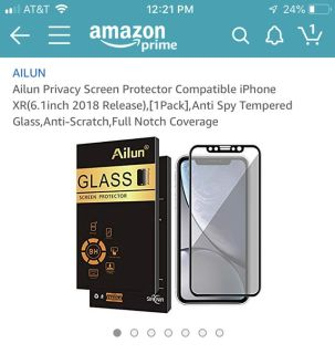 iPhone XR Privacy Screen Protector (Brand New)