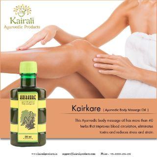 Kairkare Ayurvedic body massage oil for detoxifying and destress
