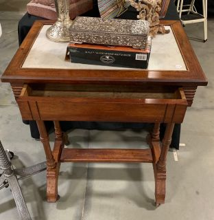 Antique Marble top table with drawer