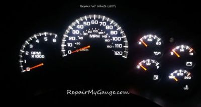 Sell Gm Chevy Silverado Speedometer Instrument Cluster Gauge Repair w/ WHITE LEDs motorcycle in Glendale, Arizona, United States, for US $147.00