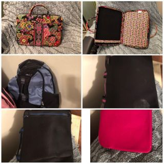 6 - Laptop Cases and Backpacks. See Description below for Types and Brands!