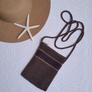 Brown Crochet Purse