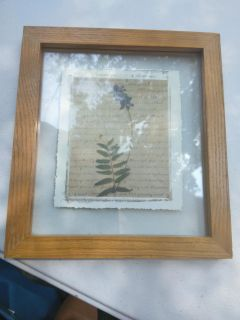 """Glass and wood flower pic 9.5"""" x 10.5"""""""