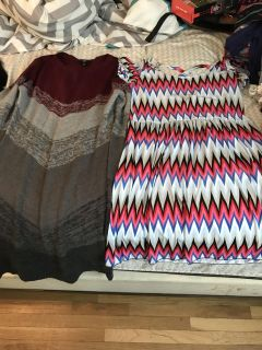 Sweater dress and short dress size large