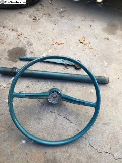 1960-63 Bug Hydrant Green Wheel/column