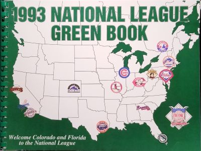1993 National League Green Book