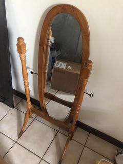 Old standing mirror