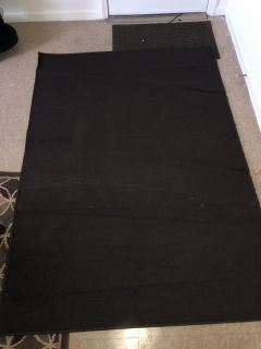 Large brown area rug