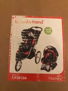 Babytrend Firestone 3-Wheel Stroller and Carseat