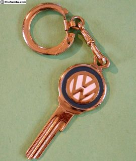 NOS Accessory Gold and Enamel Key / Key Chain