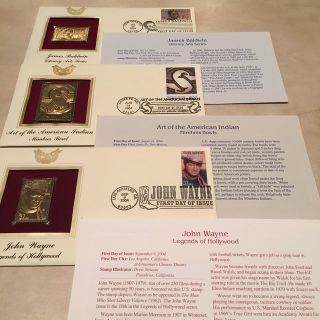 3 Sets of Limited Edition of Gold and Regular Stamps w/ Official Papers