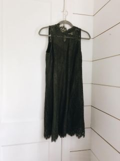 Olive Green Lace Dress (M)
