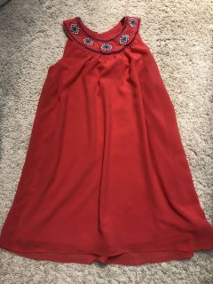 Coral colored size 7 girls dress (blush brand)
