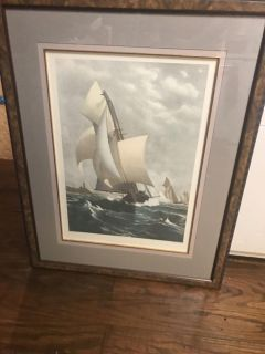 Large picture of sail boat race.