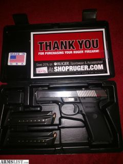 For Sale/Trade: Stainless Ruger SR9 with 3 Magazines