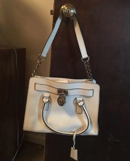 Authentic white leather Michael kors satchel