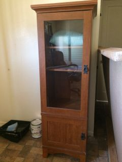 Nice Wood Cabinet 5 foot tall LIKE NEW!