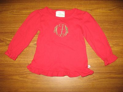 Lolly Wolly Doodle: Red Long Sleeve Shirt