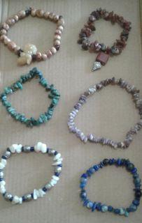 Set of 11 healing stone bracelets
