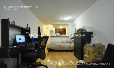 West Village - Studio/loft with high ceilings, long layout, PRIVATE OUTDOOR PATIO
