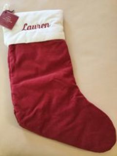 POTTERY BARN CHRISTMAS STOCKING