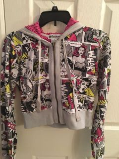 Juniors cropped zip-up hoodie (size L)