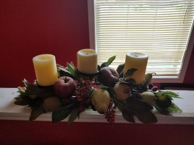 Fruit Centerpiece with Candles