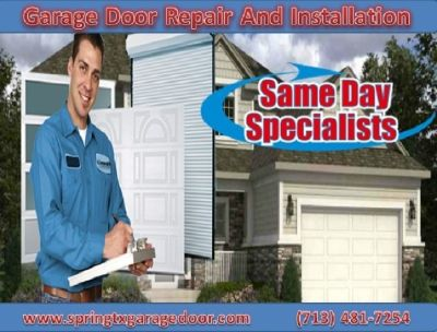 Top Garage Door Service within 1 Hour $25.95 Spring 77379 TX