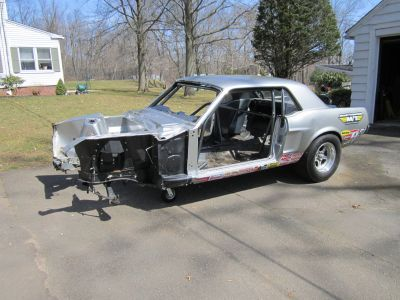 1968 Mustang Drag Car Chassis Crashed