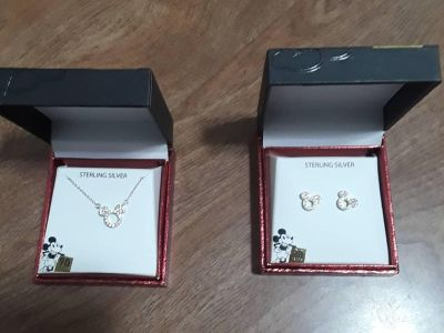90th anniversary Mickey mouse necklace and earrings