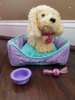AMERICAN GIRL DOLL Comfy and Cozy Pet Bed + Honey the Dog