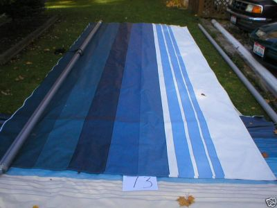 Buy 18' RV CAMPER REPLACEMENT FACTORY AWNING FABRIC SKY BLUE A & E NEW STYLE motorcycle in Stow, Ohio, US, for US $229.99