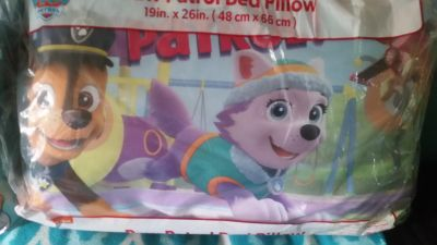New Paw Patrol bed pillow $5